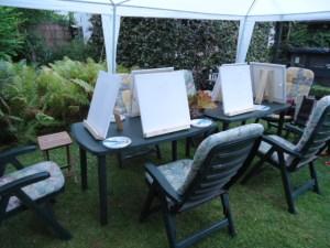 GSL schilderworksjop bij Els 31 augstus 2013 007