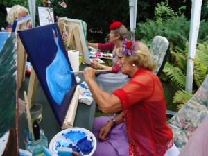 GSL schilderworksjop bij Els 31 augstus 2013 043