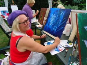 GSL schilderworksjop bij Els 31 augstus 2013 054