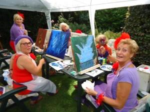 GSL schilderworksjop bij Els 31 augstus 2013 058