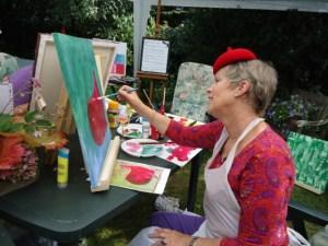 GSL schilderworksjop bij Els 31 augstus 2013 065