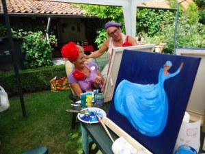 GSL schilderworksjop bij Els 31 augstus 2013 072