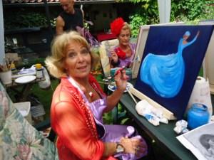 GSL schilderworksjop bij Els 31 augstus 2013 079