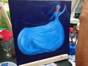 GSL schilderworksjop bij Els 31 augstus 2013 092